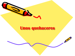 Unos quehaceres - mssalswikipage
