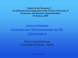 Italia - Università degli Studi di Verona
