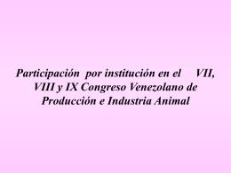 Trabajos presentados en el IX Congreso Venezolano de