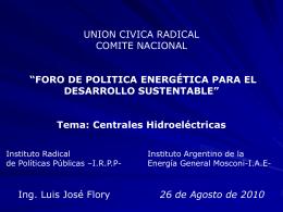 Tema: Centrales Hidroeléctricas
