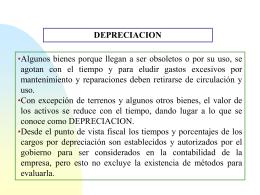 Depreciación con Inflación - ivn-matematicafinanciera