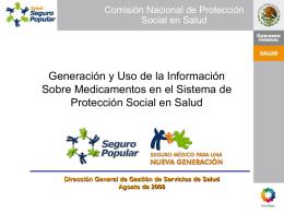 Generación y Uso de la Información Sobre Medicamentos