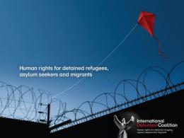 Alternativas a la detención de personas migrantes