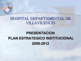 plan estrategico institucional 2008-2012