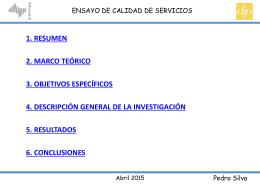PRESENTACION ENSAYO III - PEDRO SILVA - CALIDAD