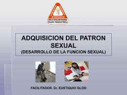 ADQUISICION DEL PATRON SEXUAL.