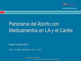 Panorama del aborto con medicamentos en Latinoamerica y el Caribe