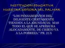 planeacion estrategica - INSTITUCION EDUCATIVA NUESTRA
