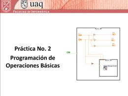 Programación de operaciones básicas.