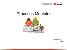 Procesos Mentales