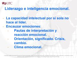 Notas sobre liderazgo e inteligencia emocional