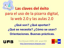 y las aulas 2.0 - Web de Pere Marquès