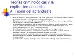 Tema 1: Principios Básicos A. Control Social y Sistema Penal