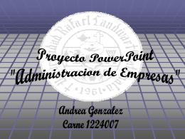 Slide 1 - Andrea Gonzalez Site