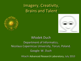 Imagery, Creativity, Brains, and Talent
