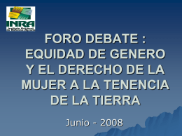 DERECHO DE LAS MUJERES A LA TENENCIA LEGAL DE