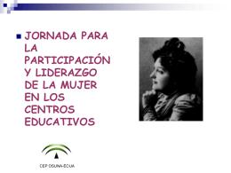 jornada para la promoción de la participación de las profesoras
