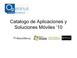 Catalogo de Aplicaciones y Soluciones Moviles