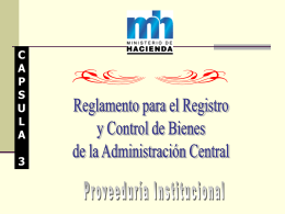 Reglamento para el Registro y Control de Bienes