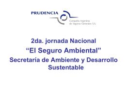El Seguro Ambiental - Secretaría de Ambiente y Desarrollo