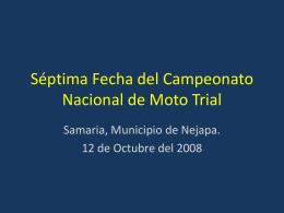 Sexta Fecha del Campeonato nacional de Moto Trial