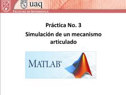 Simulación de la cinemática de un mecanismo.