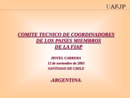 Argentina - V Reunión - (FIAP) Federación Internacional de