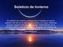 Solsticio de Invierno - labdeinformatica.com.ar