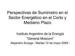 Diapositiva 1 - Instituto Argentino de la Energía