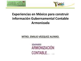 Experiencias en México para construir información