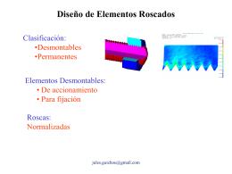 C09-Tornillos-Pernos - Diseño Mecánico Vespertino USACH