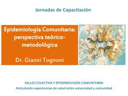 Epidemiología Comunitaria - Universidad Nacional de Córdoba