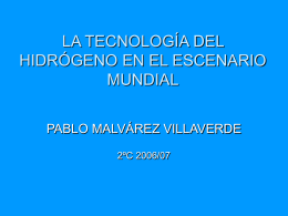 LA TECNOLOGÍA DEL HIDRÓGENO EN EL ESCENARIO MUNDIAL