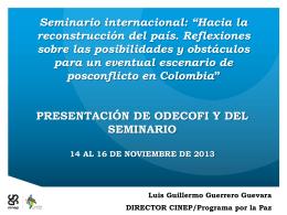Luis Guillermo_PALABRAS FIN ODECOFI NOV 14 2013