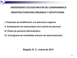 iv. cronograma de actividades proceso de reestructuración