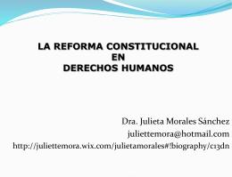 La reforma constitucional en derechos humanos