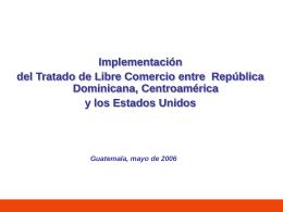 Matriz 2 Implementacion CAFTA Congreso