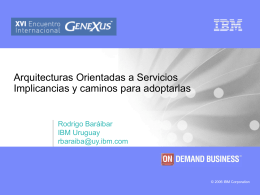 Arquitectura orientada a servicio