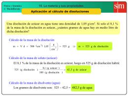 11. Cálculo de disoluciones