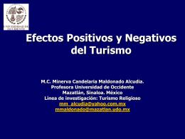 Efectos Positivos y Negativos del Turismo