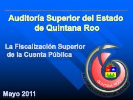LA FISCALIZACIÓN AL RAMO 33 - Auditoría Superior del Estado de