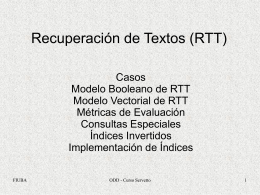 RTT 1 - Modelos e Indices