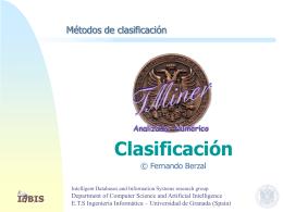 Clasificación - Fernando Berzal