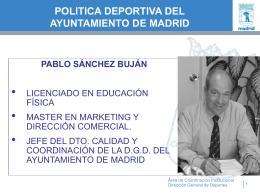 politica deportiva municipal de madrid