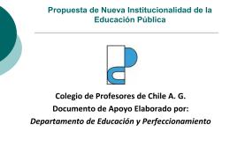 estructura nueva institucionalidad