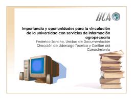 Publicaciones y documentos en el IICA