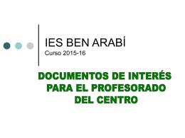 IES BEN ARABÍ Curso 2013-14