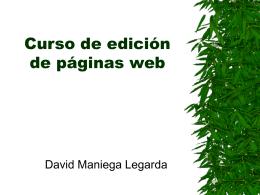 Curso de edición de páginas web