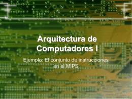 Arquitectura de Computadores I