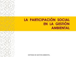 PARTICIPACION SOCIAL - Agrupación 15 de Junio – MNR
